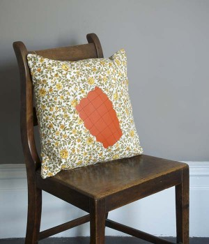 GRENADE CUSHION, ORANGE