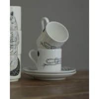 ROPE ESPRESSO CUP AND SAUCER
