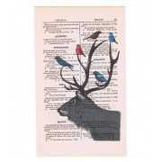 VINTAGE STAG PRINT
