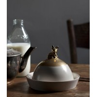 GOLDEN DEER BUTTER DISH