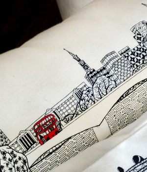 LITTLE RED BUS CUSHION